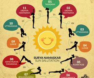 sun, asana, and yoga image