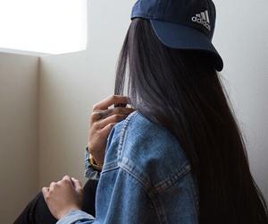 adidas, girl, and hair image