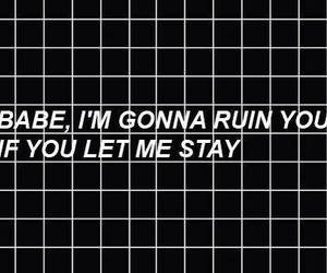black and white, grunge, and text image