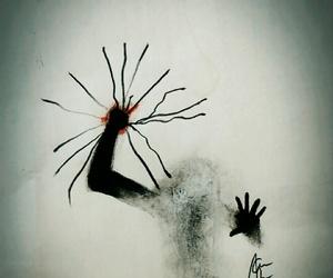 creep, dark, and leave image