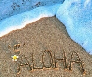 Aloha, sand, and beach image