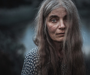 grey hair, witch, and long hair image