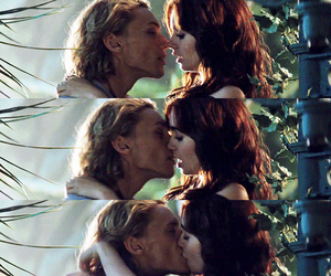 kiss, jace, and clary image