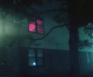 pink, dark, and window image