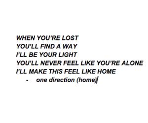 home, Lyrics, and 1d image