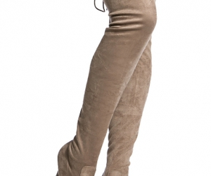 boots, thigh high, and taupe image
