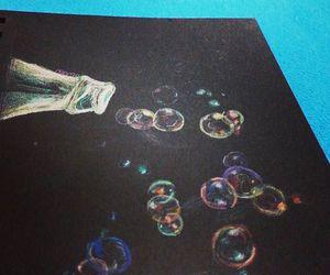 art, black, and bubble image
