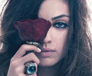 Mila Kunis, rose, and ring image