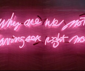 glow, pink, and quote image