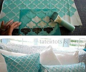 diy, pillow, and blue image