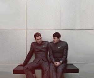 chris pine, spock, and star trek image