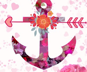 anchor, pink, and love image