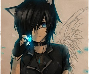 anime, neko, and anime boy image
