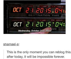 Back to the Future, 2015, and october image