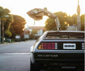 Back to the Future, delorean, and marty mcfly image