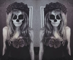 Halloween, flowers, and make up image
