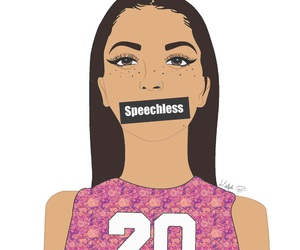 girl and speechless image