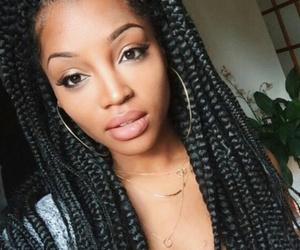 braids, hair, and box braids image