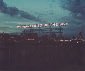 sky, grunge, and quotes image