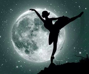 moon, ballet, and dance image