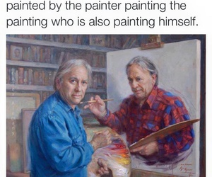 funny, painting, and art image