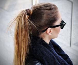 hair, fashion, and sunglasses image