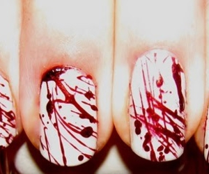 nails, blood, and red image