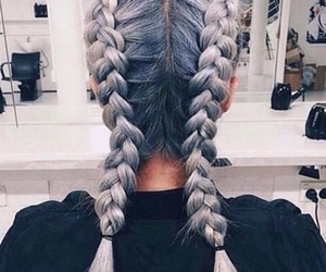 braids, pretty, and girl image