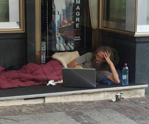 funny and homeless image