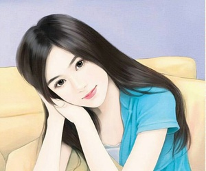 beauty, colorful, and drawing image