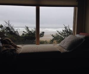 beach, room, and sea image
