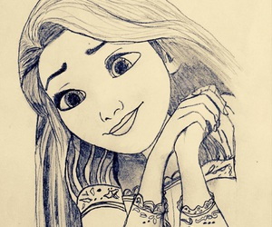 draw, drawings, and rapunzel image
