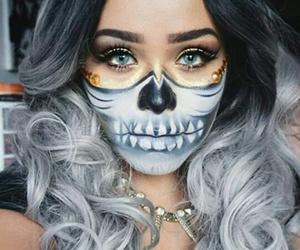 makeup, Halloween, and fashion image