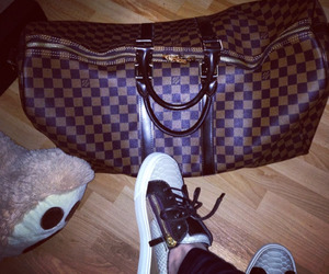 bag, Louis Vuitton, and sneakers image