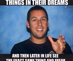 dreams, funny, and adam sandler image