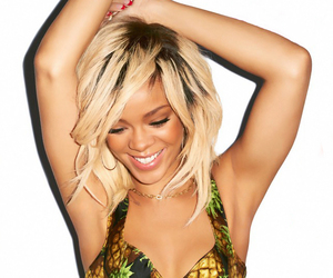 rihanna, blonde, and smile image