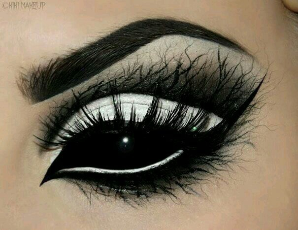 black, eye liner, eye shadow, eyes