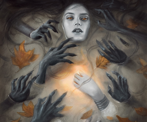 art, creepy, and dark image