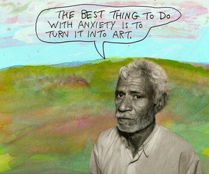 art, anxiety, and quote image