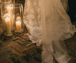 candles and dress image