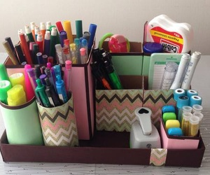 diy, toilet paper rolls, and pencil holders image