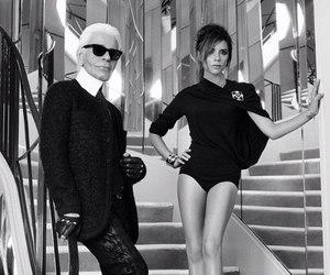 fashion, karl lagerfeld, and victoria beckham image