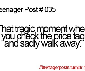 teenager post, funny, and price tag image