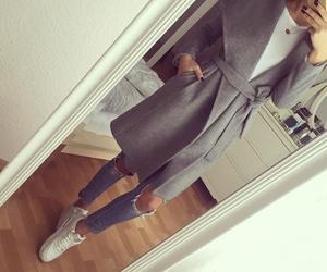 fashion, grey, and pants image