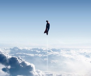 clouds, man of steel, and superman image