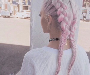 awesome hair, colour, and pink image