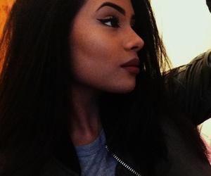 beauty, eyebrows, and mixed girl image