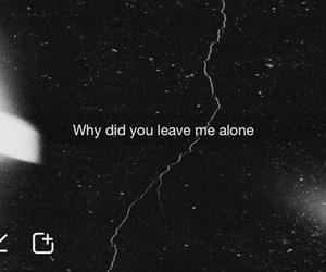 sad, alone, and quote image