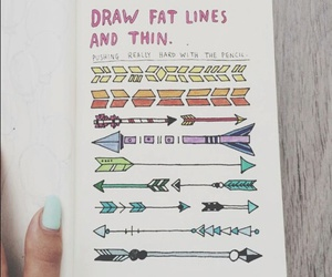 arrows, colourful, and drawn image