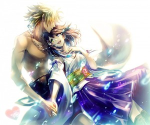 yuna, tidus, and anime image